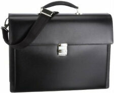 Montblanc 104610 Meisterstück Triple Gusset Briefcase w/ Laptop Holder-AUTHENTIC