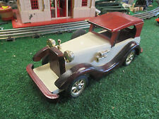 MAYRICH HANDCRAFTED POLISHED ANTIQUE WOODEN AUTOMOBILE 1930s EXCELLENT CONDITION