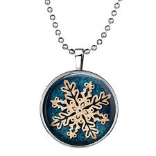 Vogue Punk Style Snowflake Glow in the Dark Stainless Steel Necklace Pendant