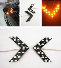 2x Bright Yellow 14SMD LED Car Side Mirror Arrow Indicator Turn Signal Lights