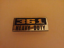 Dodge 361 Engine  Badge
