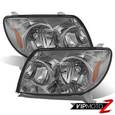 2003-2005 Toyota 4Runner 4 Runner SMOKE JDM Crystal Headlight Lamp Assembly PAIR