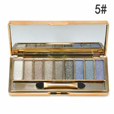 Shimmer Eyeshadow 9 Colors Palette Makeup Cosmetic Set Glitter Eye Shadow +Brush