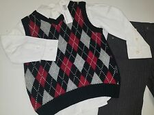 New Calvin Klein Size 3T - Boys 3pc Sweater Vest, Shirt and ant Set -$79.50 CK