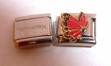 RED BUTTERFLY 9mm Italian Charm + 1x Genuine Nomination Classic Link N10 JULY