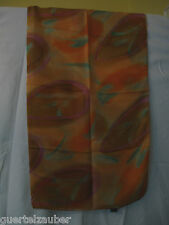 SEIDEN-TUCH mit Fantasie-Design im Batik-Look XXL SCARF SEIDE SILK Orange