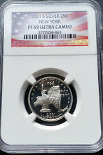 2001-S 25C New York Silver Ultra Cameo (Proof 69) State Quarter