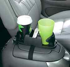 Twin Cupholder Storage and Organization Solution Clutter Manageable (Black), New