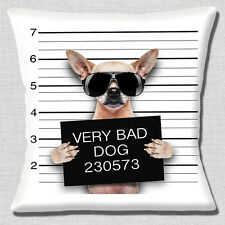 "NEW FUNNY FAWN  CHIHUAHUA BAD DOG LINE UP PHOTO PRINT  16"" Pillow Cushion Cover"