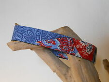 Denim Patchwork 1 1/2 Inch Custom Made Martingale Collar (Close Out)