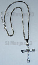 Crucifix Cross on 20 inch Box Chain. Like Toretto's in The Fast and The Furious