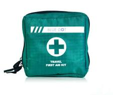 EMPTY TRAVEL FIRST AID KIT BAG WITH COMPARTMENTS - GREEN