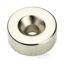 N50 Small Disc Magnet 25mm x 10mm Ring Hole 5mm Rare Earth Neodymium