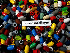 50 Lego 1x1 Round Bricks: Cylinders & Cones Mixed Colors Bulk Parts/Pieces Lot