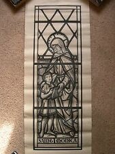 T41 - Antique stained glass window cartoon design - Saint Monica - Poole, Dorset