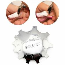 Easy French Line Edge Trimmer Nail Smile Cutter False Nails Form Template