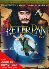 Peter Pan Live (DVD, 2014, 2-Disc Set, DVD/CD)