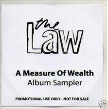 (129V) The Law, A Measure of Wealth sampler - DJ CD