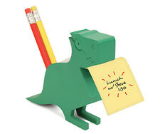 Green Dinosaur Memo Holder Desk Tidy by Kikkerland