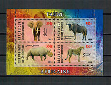 Elfenbeinküste, Leopard | Nashorn | Elefant Kleinbogen Mini Sheet, 2013** MNH