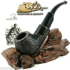 OUTSTANDING Mr.Brog original smoking pipe nr 33 black carved * BOXER * HAND MADE