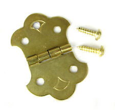 Cigar Box Guitar 3-String Brass Hinge Tailpiece with Screws & Guide - 31-61-01