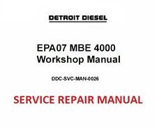 Detroit Diesel EPA07 MBE 4000 Engine  Workshop Service Manual 2010 +