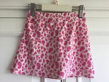 2-3 yr sweet short pink skirt girl velour, leopard print, layering George