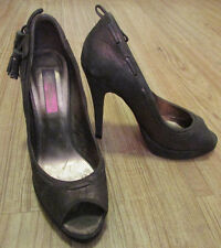 BETSY JOHNSON Bronze Low Sparkle Open Toe High Heels 7M VGUC