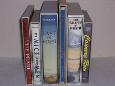 Easton Press FIRST EDITION LIBRARY John Steinbeck 6 vols East Eden Red Pony ...