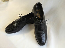 Bally Switzerland Men's BLACK WINGTIPS - size 9.5 B - Berkshire lace up oxfords