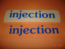 2 AUTHENTIC INJECTION BLUE STICKERS #3 / DECALS / AUFKLEBER