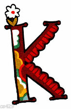 LETTER K MODA MONAGRAM ALPHABET ABC'S  NAME FABRIC APPLIQUE IRON ON