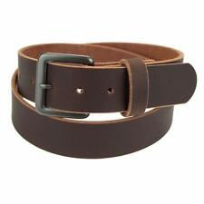 "Genuine Buffalo Hide Leather Belt_1 1/2""_Amish Handmade_Gun Metal Finish Buckle"