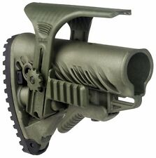 GLR-16 PCP Fab Defense Green Color Tactical Buttstock with Picatinny Cheek Rest