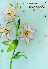 Con più sincere condoglianze CARD colori dell' acqua da una seconda natura cartoline d'auguri