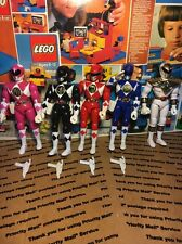 """Vintage 1993 Mighty Morphin Power Rangers 8"""" Inch Figure Lot (5)"""