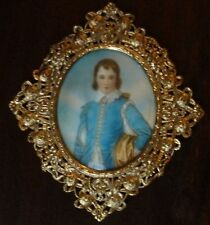 MINIATURE PAINTING PORTRAIT  BLUE BOY AFT. GAINSBOROUGH