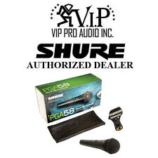 Shure PGA58-LC Cardioid Dynamic Vocal Microphone W/ Microphone Clip Swivel Adapt