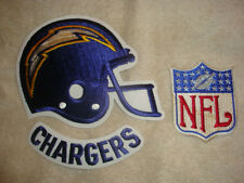 San Diego Chargers Helmet, Arched Name and NFL Embroidered Patches -3 patches