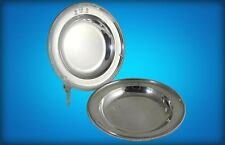 PAIR OF GEORGE III  PAUL STORR STERLING SILVER SOUP PLATES, BURDETT-COUTTS CREST