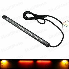 21CM Waterproof Motorcycle Tail Brake Stop Turn Signal Lamp Light Strip 32LED