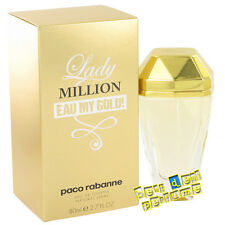 Lady Million Eau My Gold by Paco Rabanne 2.7 oz EDT for Women New In Box 80ml