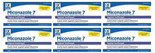 6 Pack Quality Choice Miconazole Nitrate Vaginal Cream 7-Day 2% 1.59oz Each