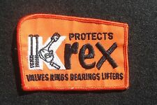 "KREX EMBROIDERED SEW ON PATCH VALVES RINGS BEARINGS LIFTERS AUTO RACING 4"" X 3"""