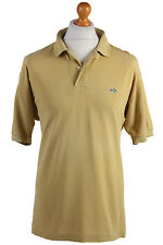 "Lacoste Vintage Casual Men Polo Shirt Mustard Chest Size 46"" - PT0561"