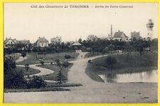cpa TERGNIER Aisne CITÉ des Employés du CHEMINS de FER CHEMINOTS Buttes Chaumont