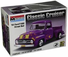 Revell Monogram  1955 Ford F-100 Street Rod Plastic Model Kit 1/24