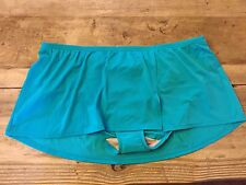 Aqua Blue~18W~2X~Lane Bryant Plus Size SHORT FLIRTY  Skirt Swimsuit Bottom