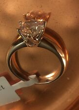 2 Ct Round Cut Diamond Engagement Ring SI1/D 14K White Gold Size 5.0